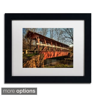 Lois Bryan 'The Colvin Covered Bridge' Framed Matted Art