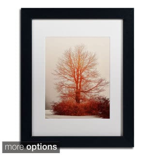 Lois Bryan 'On Fire in the Fog' Framed Matted Art