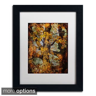 Lois Bryan 'Autumn Oaks in Dance Mode' Framed Matted Art