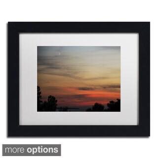 Kurt Shaffer 'New Moon Sunset' Framed Matted Art