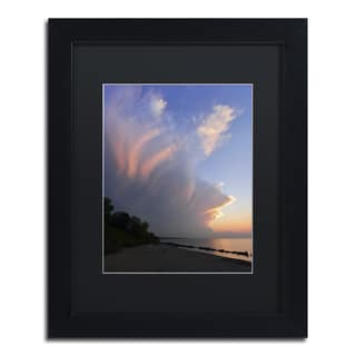 Kurt Shaffer 'Developing Sunset Storm' Framed Matted Art