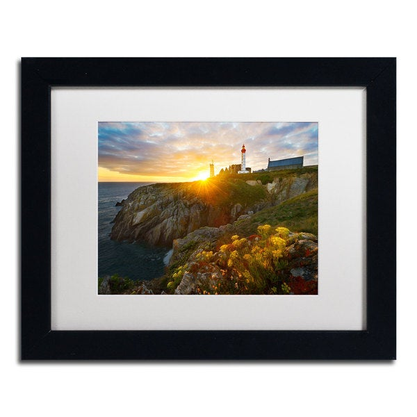 Mathieu Rivrin 'Sunset-Pointe Saint Mathieu' Framed Matted Art