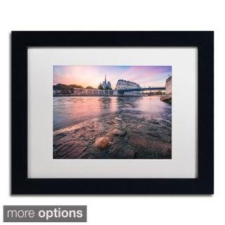 Mathieu Rivrin 'Notre Dame de Paris' Framed Matted Art