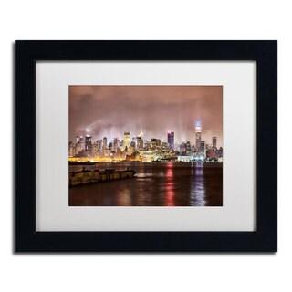 David Ayash 'Midtown Manhattan' Framed Matted Art