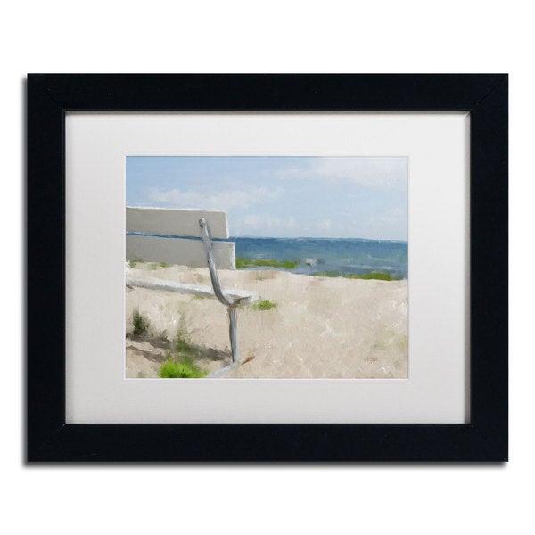 Lois Bryan Beach On Long Island Sound Framed Matted Art