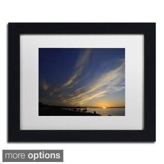 Kurt Shaffer 'Sweeping Sunset' Framed Matted Art
