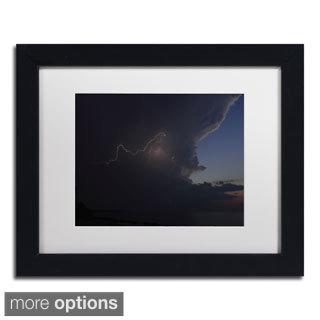 Kurt Shaffer 'Sunset Thunderhead #3' Framed Matted Art