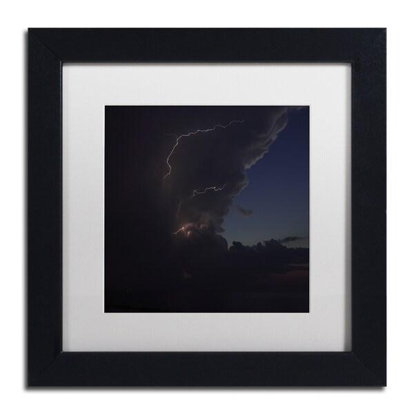 Kurt Shaffer 'Sunset Thunderhead #2' Framed Matted Art