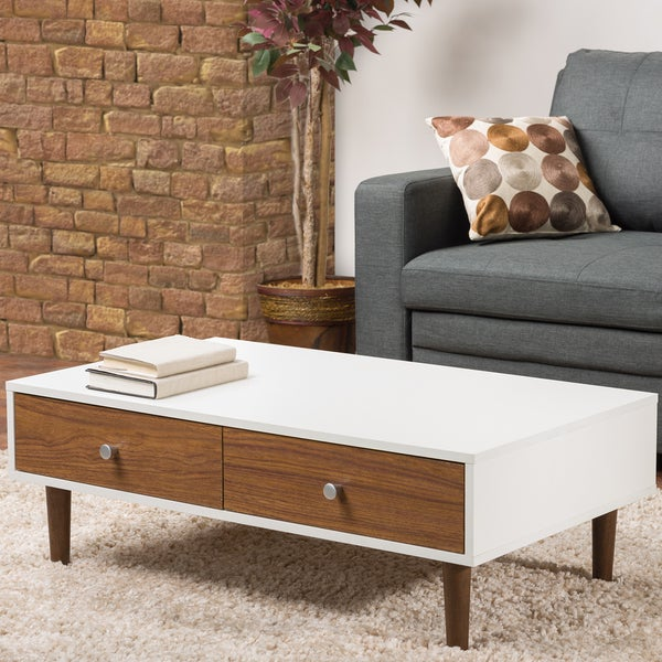 Gemini Wood Contemporary Mid-century Style Coffee Table