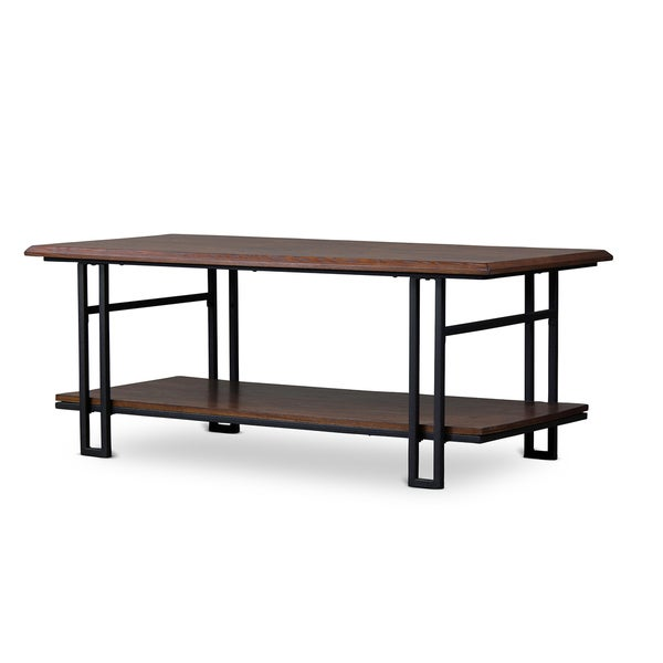Baxton Studio Newcastle Vintage Industrial Wood And Metal Coffee Table Free Shipping Today Overstock Com 16976971
