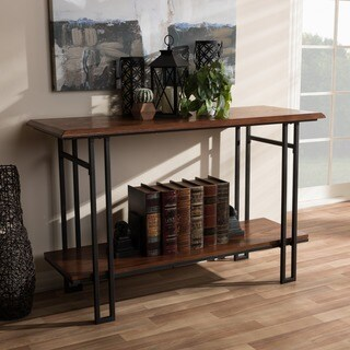 Baxton Studio Bronze Metal/Brown Wood Vintage Industrial Console Table