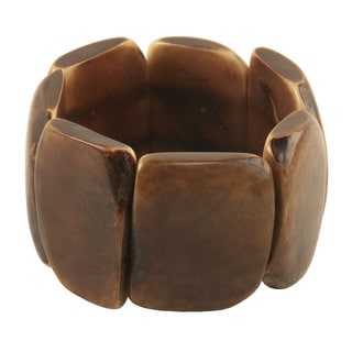 Faire Collection Polished Tagua Nut Bracelet in Chocolate (Ecuador)