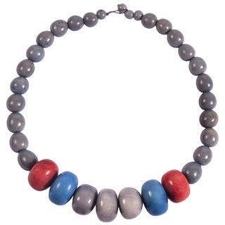 Faire Collection Manabi Seed and Tagua Necklace in Periwinkle (Ecuador)