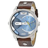Diesel Men's DZ7308 'Mini Daddy' Brown Leather Watch
