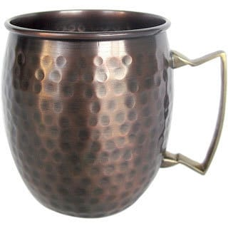 Antique Finish Hammered Copper Mug