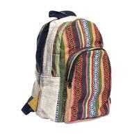 Handmade Natural Hemp Rasta Reggae Backpack (Nepal)