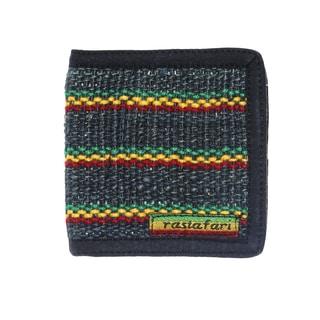 Handmade Men's Rastafari Hemp Cotton Mix Bi-fold Wallet (Nepal)