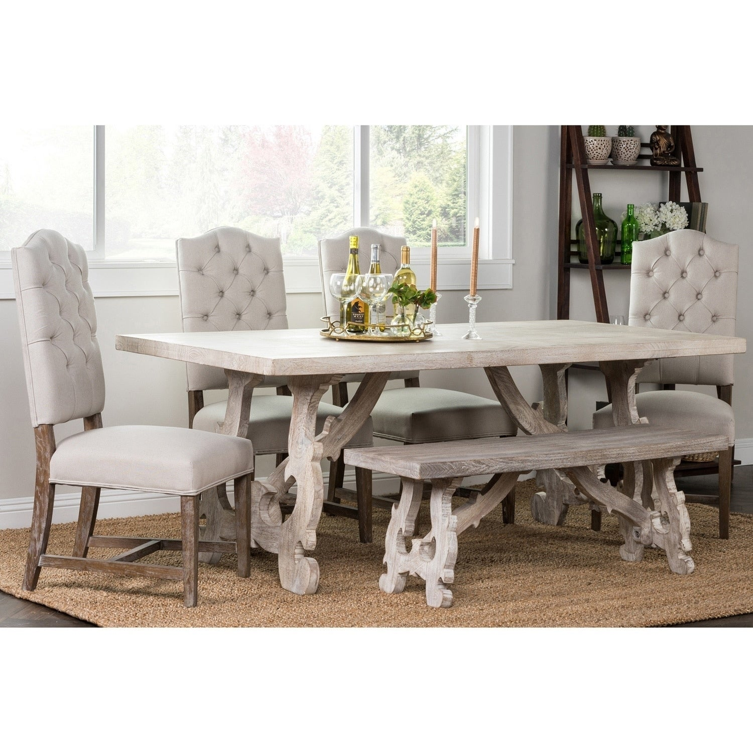 Shop Elliott Rustic Hand Crafted 76 Inch Dining Table By Kosas Home Overstock 9811204