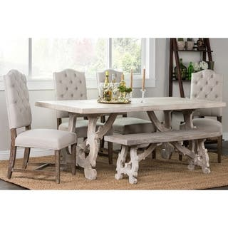 Elliott Rustic Hand Crafted 76 inch Dining Table by Kosas Home. Handmade Dining Room   Bar Furniture For Less   Overstock com