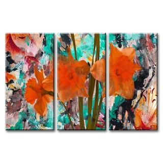 Ready2HangArt 'Painted Petals XXII' 3-piece Canvas Wall Art Set