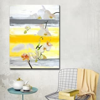 Ready2HangArt 'Painted Petals XXVI' Floral Canvas Wall Art