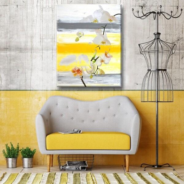 Ready2HangArt \'Painted Petals XXVI\' Canvas Wall Art - YELLOW - Free ...