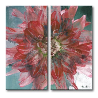 Ready2HangArt 'Painted Petals XXXI' 2-piece Canvas Wall Art
