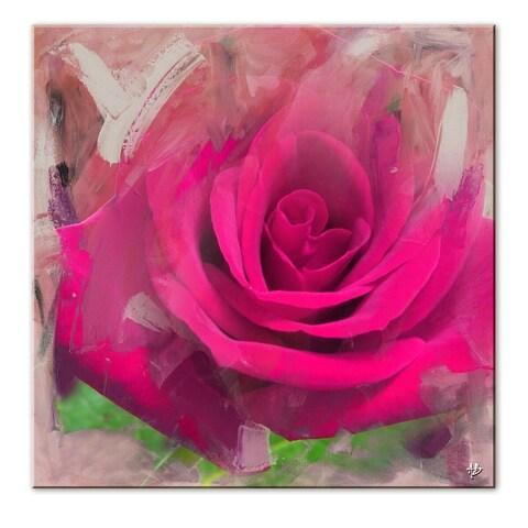 Ready2HangArt 'Painted Petals XL' Canvas Wall Art - Pink