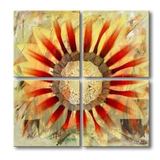 Ready2HangArt 'Painted Petals XLV' 4-piece Canvas Wall Art Set