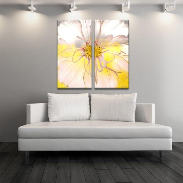 Ready2HangArt X27Painted Petals XXXIVx27 2 Piece Canvas Wall