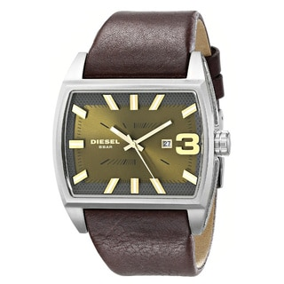 Diesel Men's DZ1675 'Starship' Brown Leather Watch