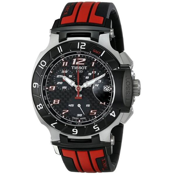 16af5dfd3 Shop Tissot Men's T0484172720701 'T-Race MotoGP Limited Edition' Chronograph  Red Rubber Watch - Free Shipping Today - Overstock - 9811240