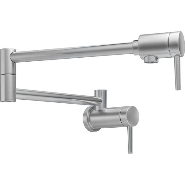 Delta Contemporary Wall Mount Pot Filler 1165LF-AR Arctic Stainless