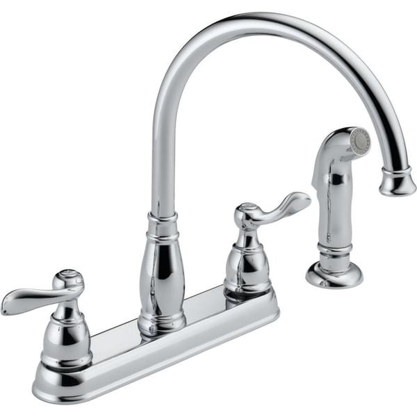 Delta Windemere Two Handle Kitchen Faucet 21996LF Chrome