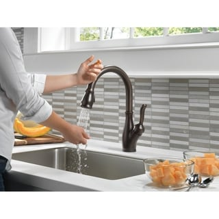 Delta Leland Single-handle Pull-down with Touch2O Technology Venetian Bronze Kitchen Faucet