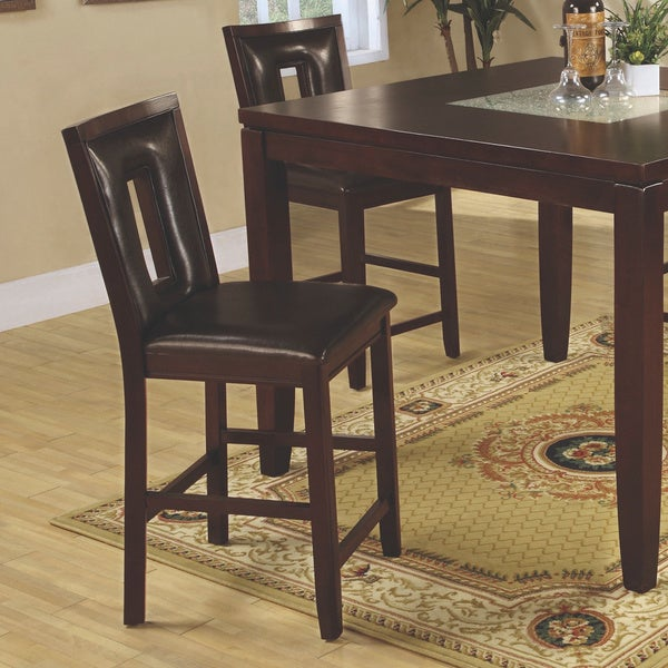 Coaster Company Ervin Espresso Counter Height Dining Stools - Free ...