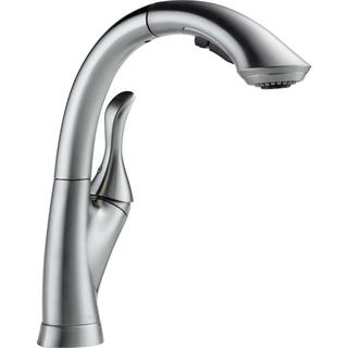 Delta Linden Single-handle Water-Efficient Pull-out Arctic Stainless Kitchen Faucet