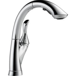 Delta Linden Single-handle Water-Efficient Pull-out Chrome Kitchen Faucet