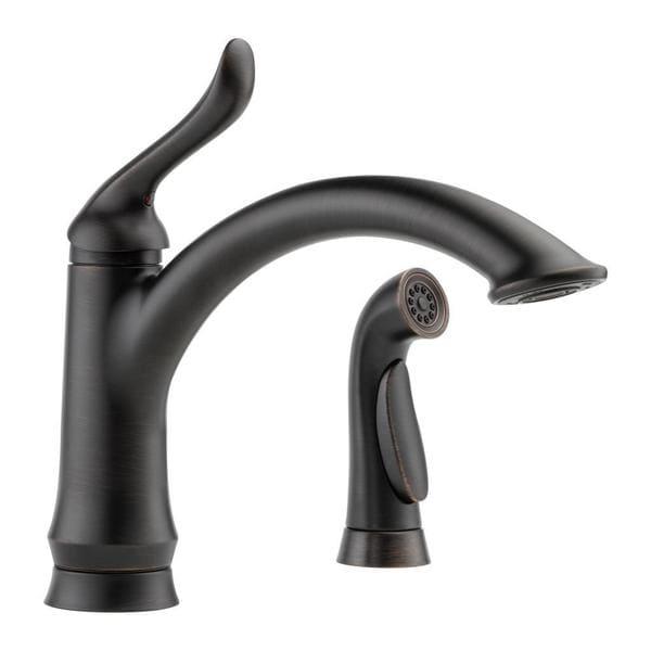 Delta Linden Single Handle With Spray Venetian Bronze