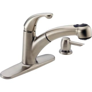 Delta Palo Single-handle Pull-out with Soap Dispenser Brilliance Stainless Kitchen Faucet