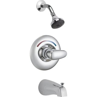Delta Commercial Classic Universal Chrome Tub and Shower Trim