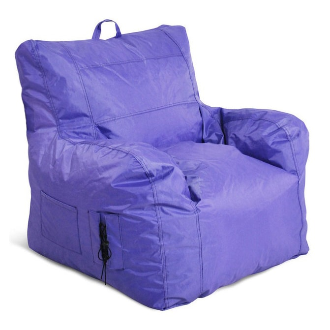 Jordan Small Bean Bag Chair (Blue) (Polyester)