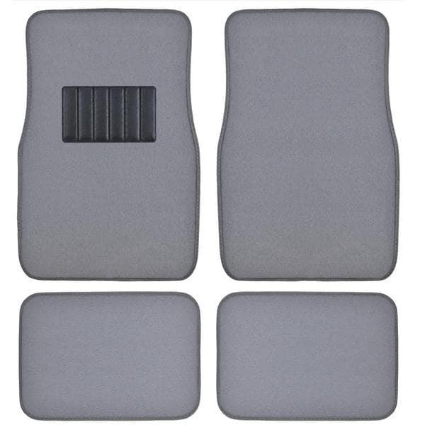 BDK Grey 4-piece Car Floor Mat Set
