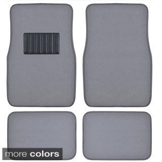 BDK Grey 4-piece Car Floor Mat Set