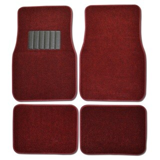 BDK Burgundy 4-piece Car Floor Mat Set