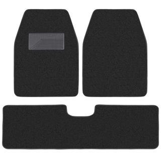 BDK Black 3-piece Van/ Truck Floor Mat Set