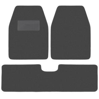 BDK Charcoal 3-piece Van/ Truck Floor Mat Set