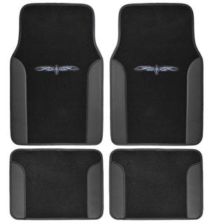 BDK Black 4-piece Vinyl Trim Tattoo Design Car Floor Mat Set