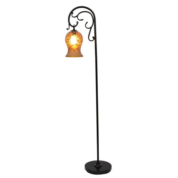 Textured Bronze Floor Lamp, 64-inch