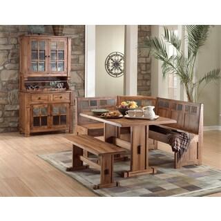 Sunny Designs Rustic Oak Breakfast Nook